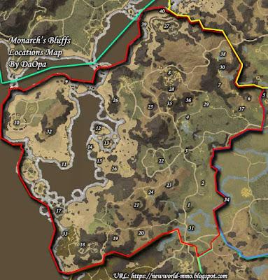monarchs bluffs locations map