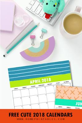 cute 2018 calendars