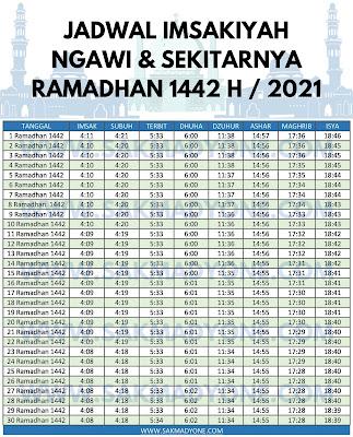 Jadwal imsakiyah ramadhan 2021 ngawi