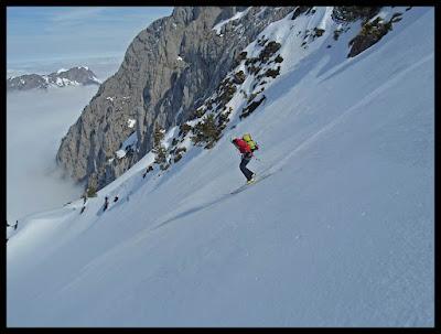 Descenso con esquís