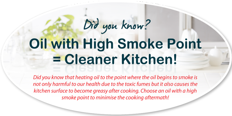 camelina oil high smoke point equals cleaner kitchen