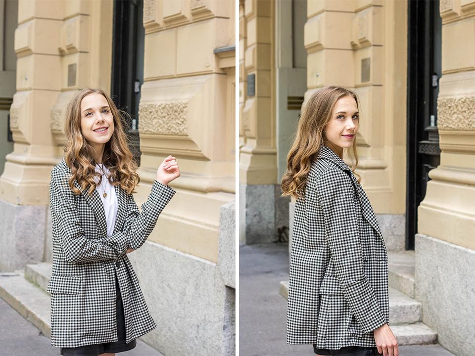 Black and white summer to autumn transitional outfit - Mustavalkoinen asu, bleiserit syksyyn