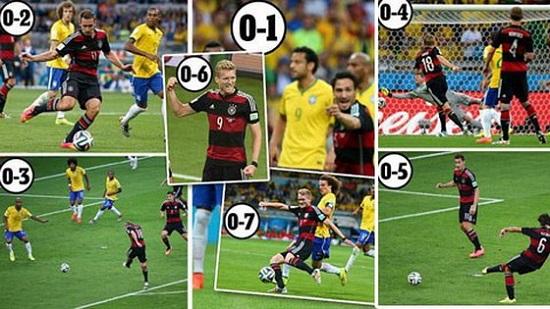 Brazil nhận thất bại 1-7 trước Đức