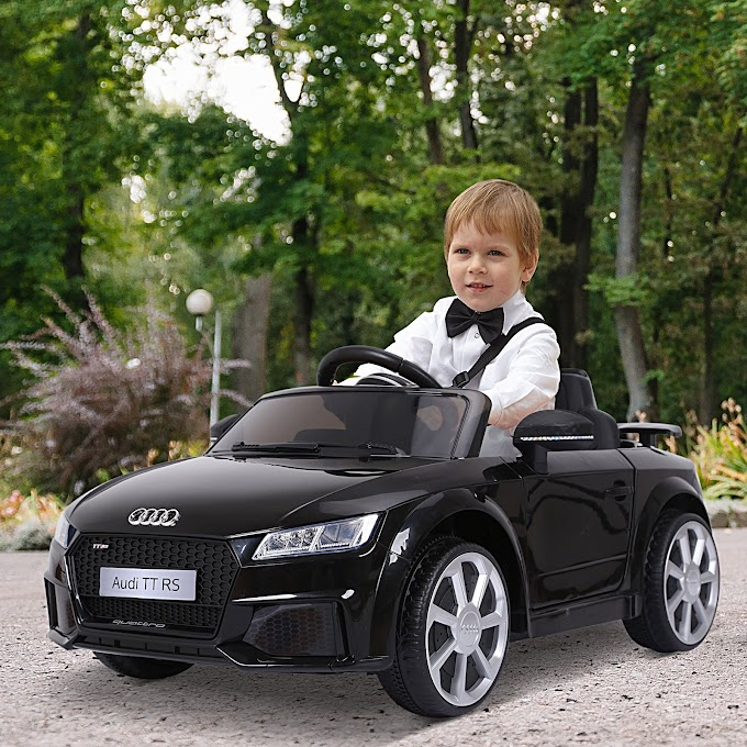 Aosom 6V Audi TT RS Kids Licensed Electric Sports Car Ride On Toy | One Seat Battery Powered | High/Low Speed
