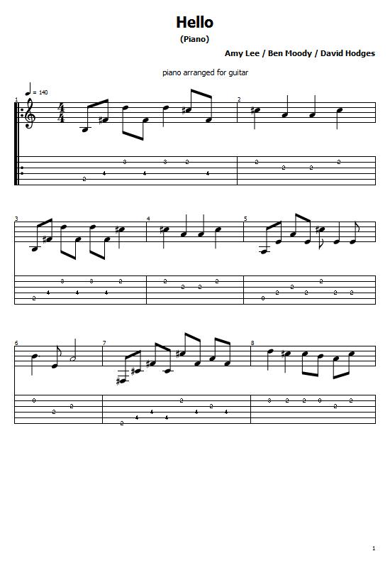 Hello Tabs Evanescence. How To Play Hello On Guitar/ Evanescence Hello Free Tabs/ Sheet Music. Evanescence - Hello