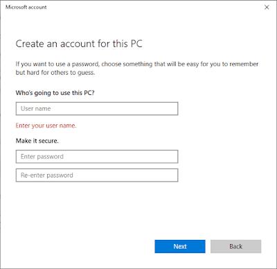 Membuat Nama Dan Password User Account Windows 10