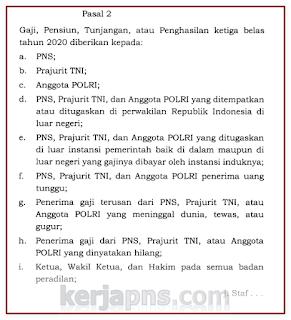 PP nomor 44 Tahun 2020 tentang Pemberian Gaji 13
