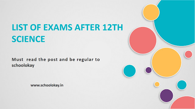 LIST OF EXAMS AFTER 12 SCIENCE AND HOW YOU CAN PREPARE FOR THESE EXAMS
