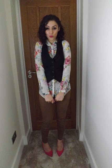 What Cat Wore | PLL Aria Inspired Waistcoat Look