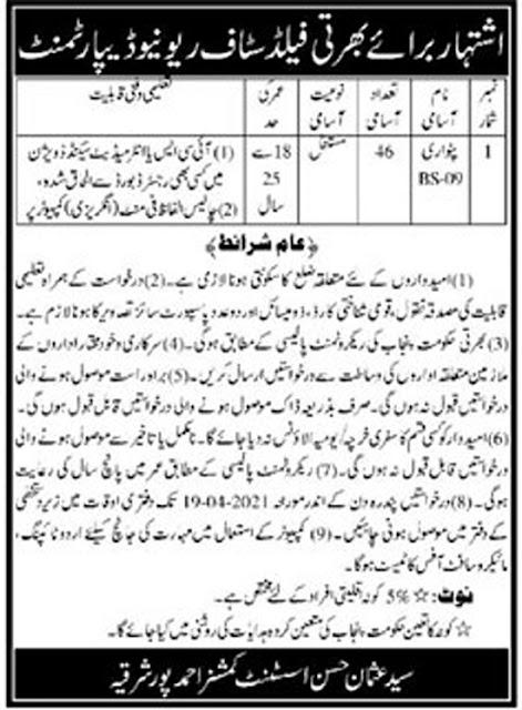 revenue-department-ahmadpur-sharqia-jobs-2021