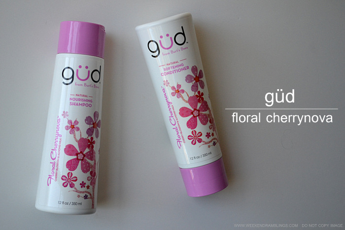 Weekend Ramblings: Gud Floral Cherrynova Shampoo and Conditioner