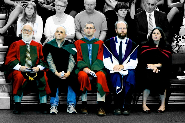 Photo of several professors in their academic robes.