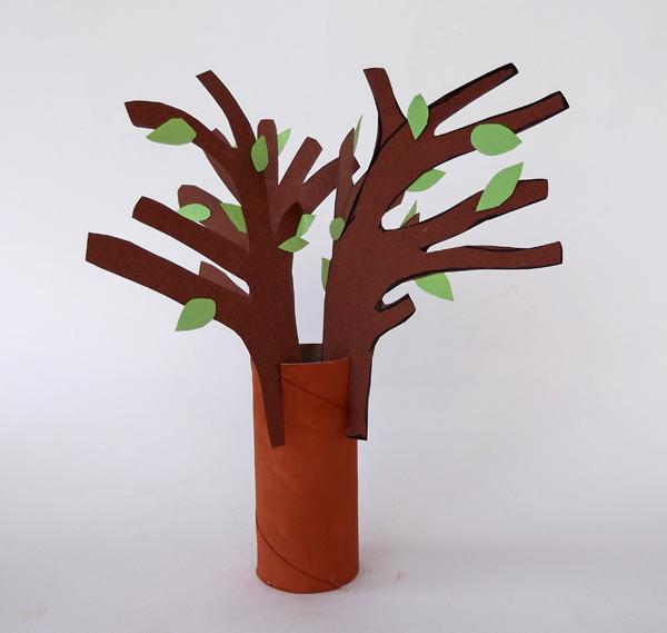 Κατασκευές για παιδιά, χειροτεχνίες για παιδιά, χειροτεχνίες από ρολό χαρτί υγείας, δέντρο χειροτεχνία,