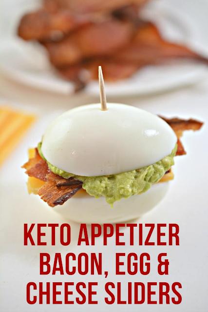 Keto Appetizer - Bacon, Egg & Cheese Sliders