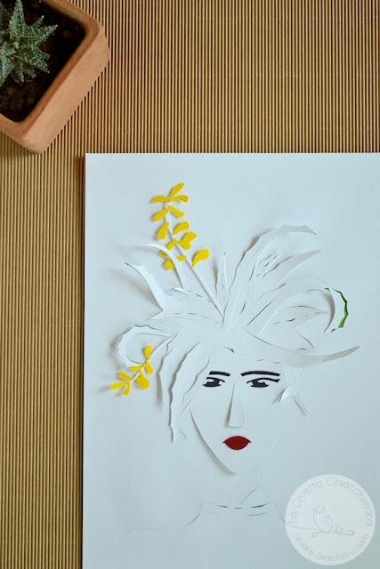 illustrazione in paper cutting realizzata a mano dalla Civetta Chiacchierina
