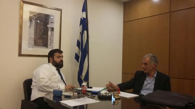 Συνάντηση του βουλευτή Αργολίδας Γιάννη Γκιόλα με την ηγεσία του Υπουργείου Αθλητισμού