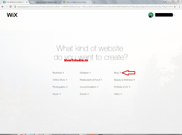 What Kind Of Website you want to create on wix