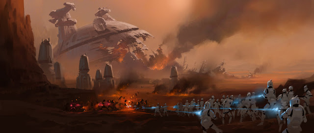 battle of geonosis clone troopers