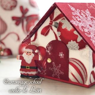 カルトナージュ クリスマスツリー クリスマスハウス