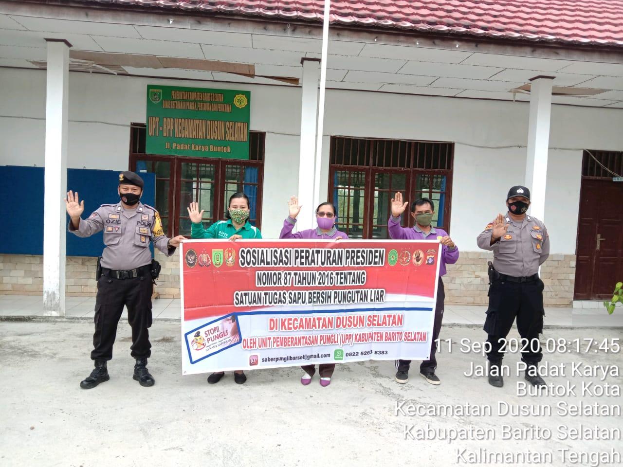 Perangi Pungli, Personel Polsek Dusel Laksanakan Sosialisasi Perpres Nomor 87 Tahun 2016