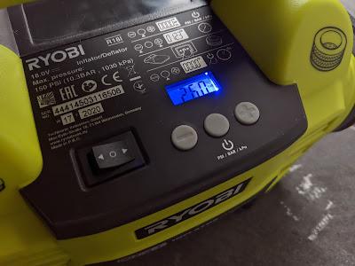 Bedienung Ryobi 18V Kompressor