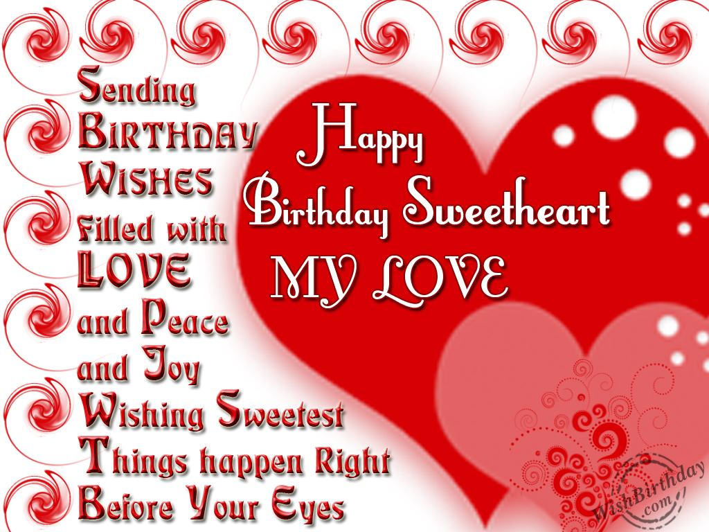 Romantic Happy Birthday Wishes for Wife with Images and Quotes – Happy Birthday Greeting for Wife