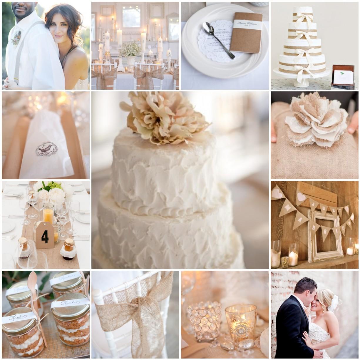Burlap Wedding: White And Burlap Wedding