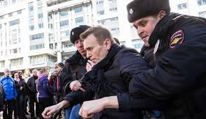 Navalny detained at Moscow