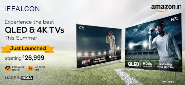 iffalcon 4k qled & 4k uhd android smart tv sale on amazon