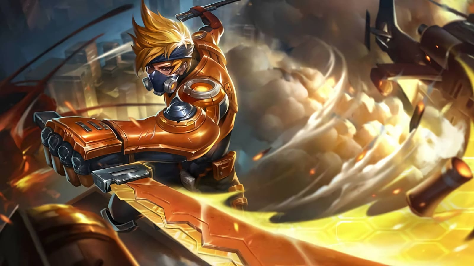 Wallpaper Hayabusa Spacetime Shadow Skin Mobile Legends HD for PC