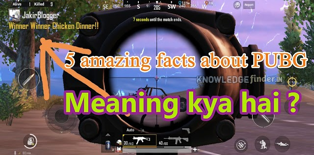 Kya hai Winner Winner Chicken Dinner meaning ? | 8 amazing facts about PUBG