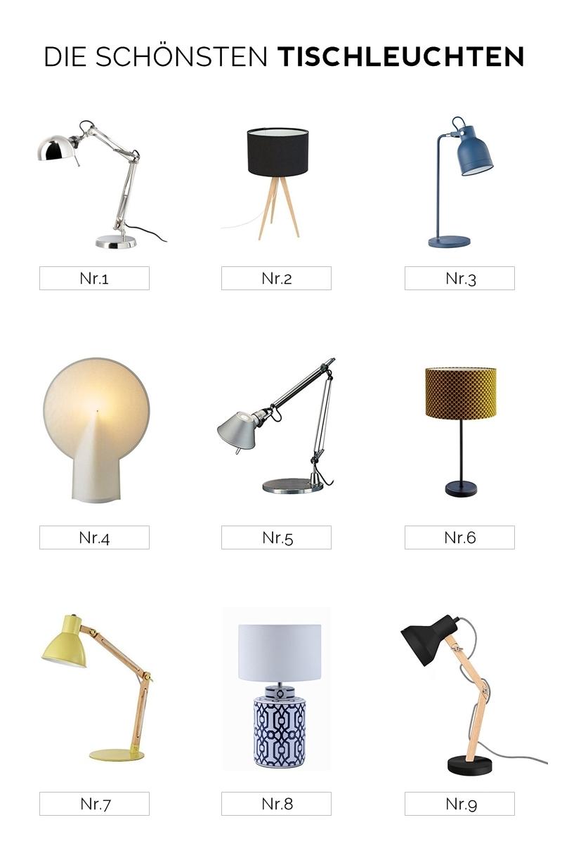 How To - Stylingtipps: Nachttisch dekorieren. Die schönsten Tischleuchten fürs Schlafzimmer modern skandinavisch Roundup. Tasteboykott Blog Interior Design.
