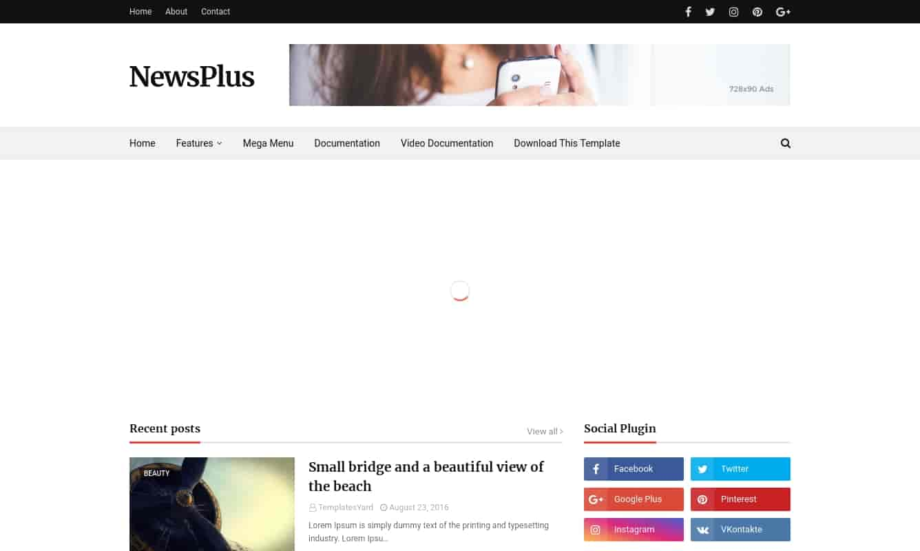 news plus blogger template for blogger,how to use news plus blogger template