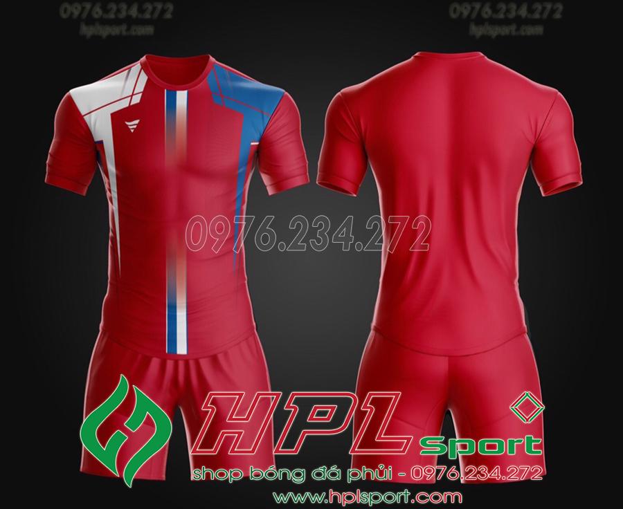 Áo ko logo TA THD màu đỏ