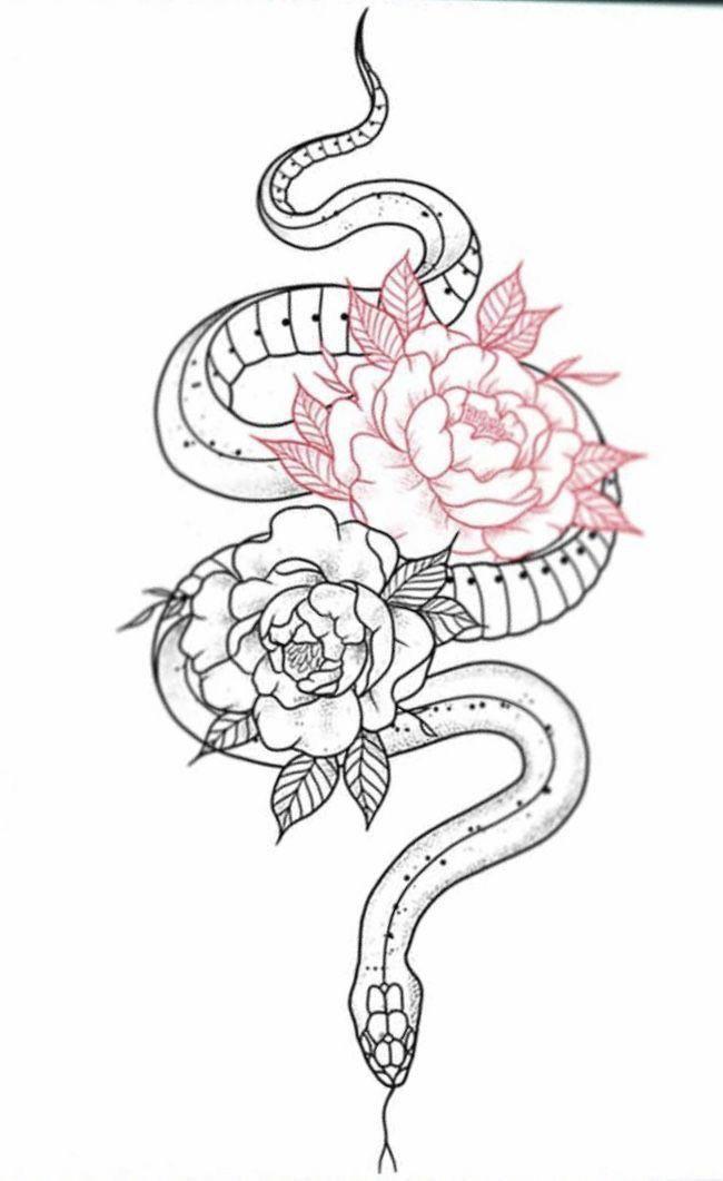 ular dan bunga tato