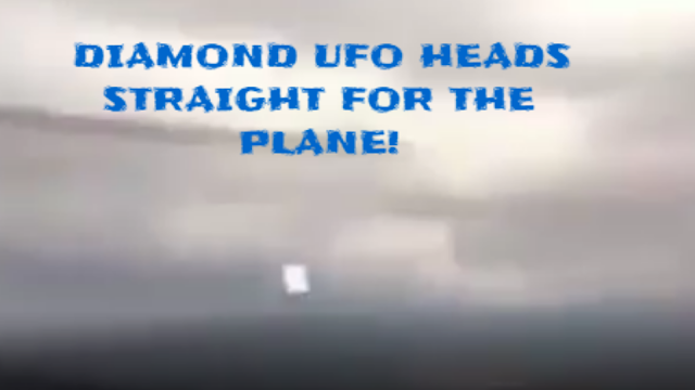 Towards the end of this UFO video the last UFO looks like it's heading straight for the plane.