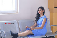 Telugu Actress Mounika UHD Stills in Blue Short Dress at Tik Tak Telugu Movie Audio Launch .COM 0235.JPG