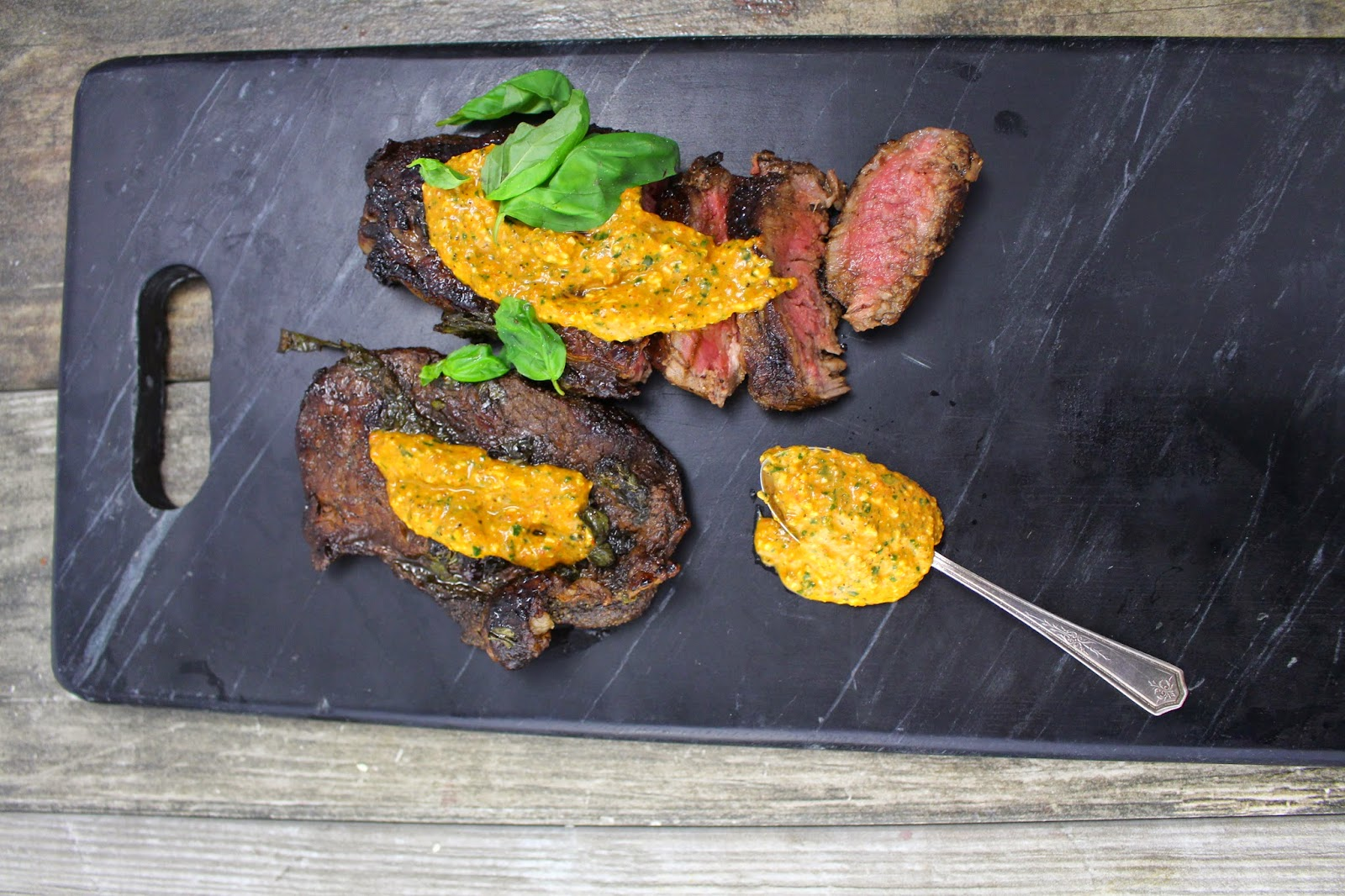 balsamic basil marinated steak