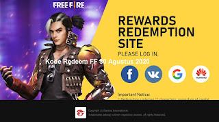 Kode Redeem FF 30 Agustus 2020