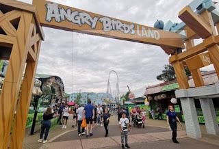 La zona de Angry Birds del Thorpe Park.