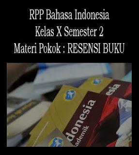RPP Bahasa Indonesia, Materi Resensi Buku