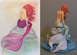 statuine modellini tratti da disegni pezzi unici realizzati su commissione collezionismo orme magiche