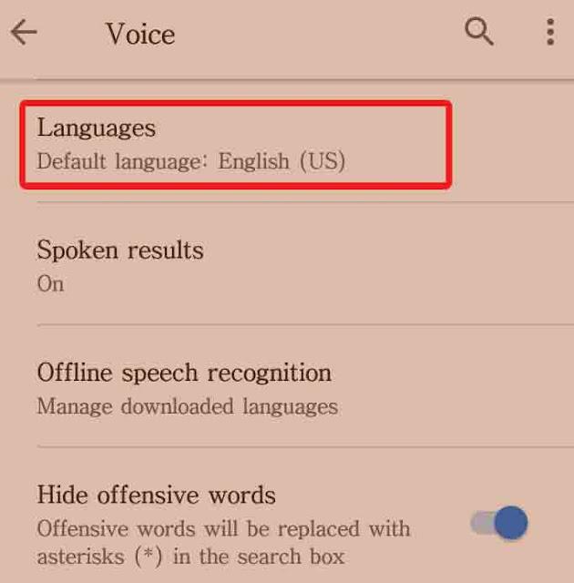 click language