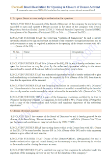 board resolution format for closing demat account
