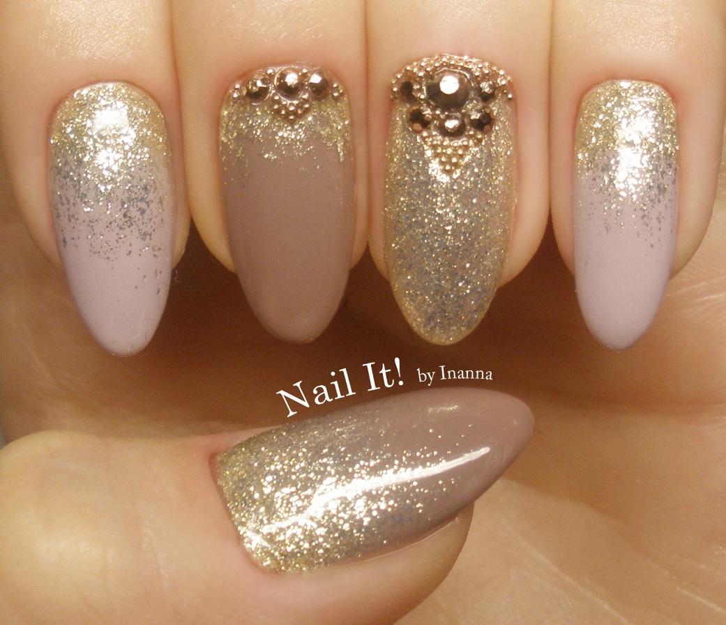 Nude Glam Nail Art
