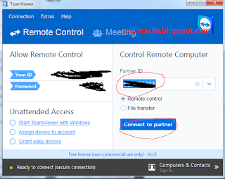 Remote komputer dari jarak jauh menggunakan teamview 7