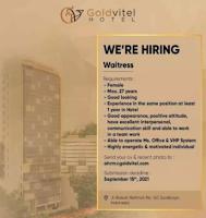 We Are Hiring at Goldvitel Hotel Surabaya September 2021