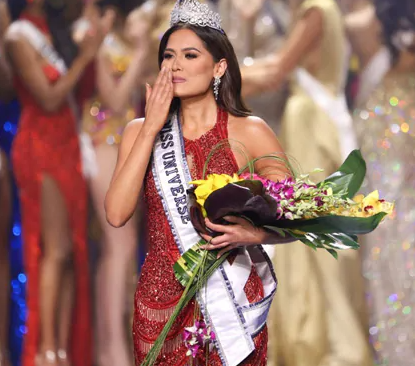 Miss Universe 2021 Andrea Meza, 26, finished first ahead of the Brazilian and Peruvian finalists