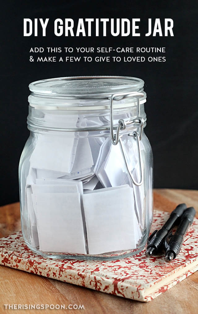 DIY Gratitude Jar (Easy Self-Care Idea or Homemade Gift)