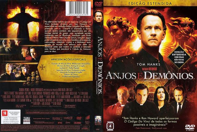 Capa DVD Anjos e Demônios